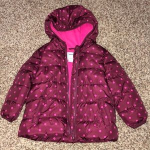 Old Navy fleece lined hooded puffer NWOT